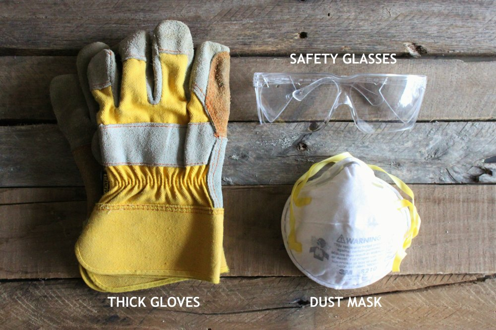 Safety Gear for Bathroom Demolition