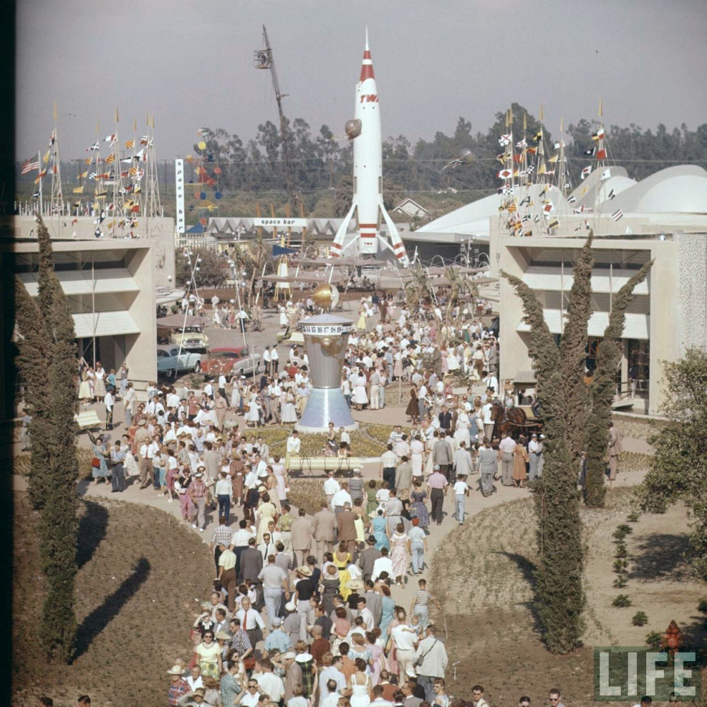 The Crouds at Disneyland Opening Day
