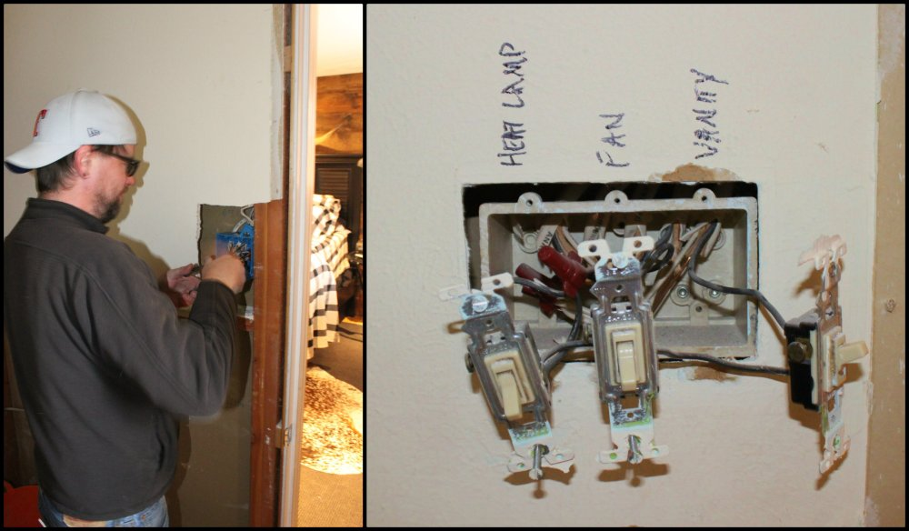Ben Installing the New Electrical Collage