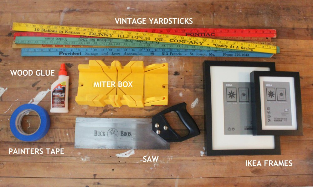 Everything you Need to Make Yardstick Frames