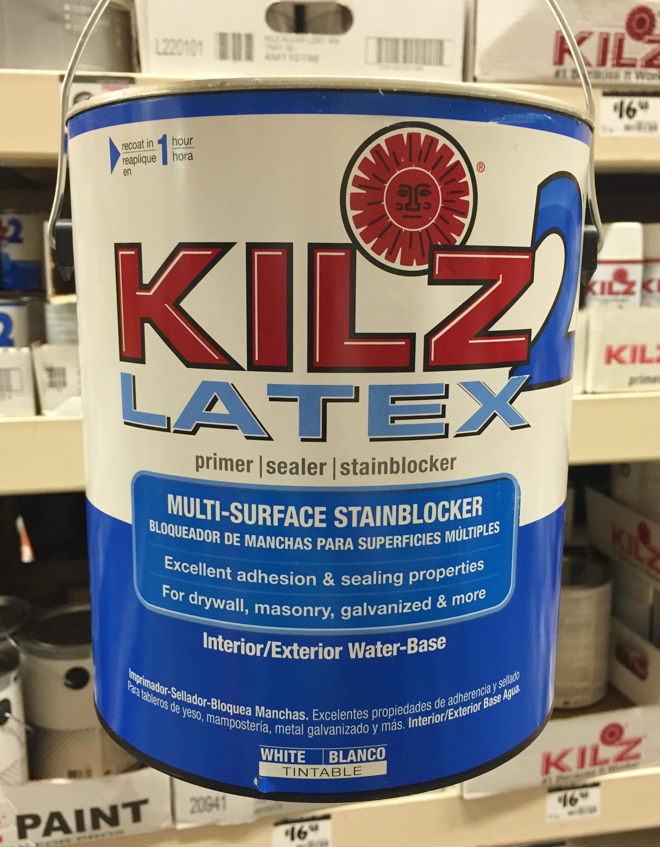 Kilz bathroom ceiling paint - Kilz Latex Primer Image Number 19 Of Kilz Bathroom Ceiling Paint