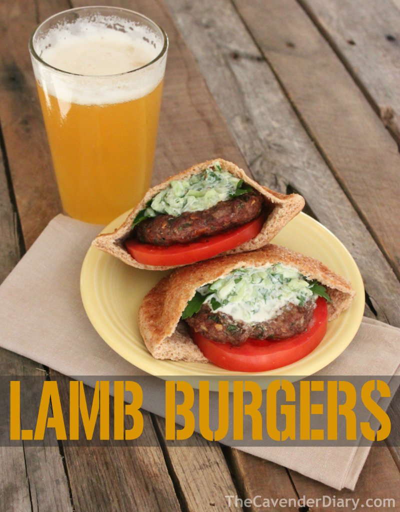 Lamb Burgers with Homemade Tzatziki from the Cavender Diary Boys