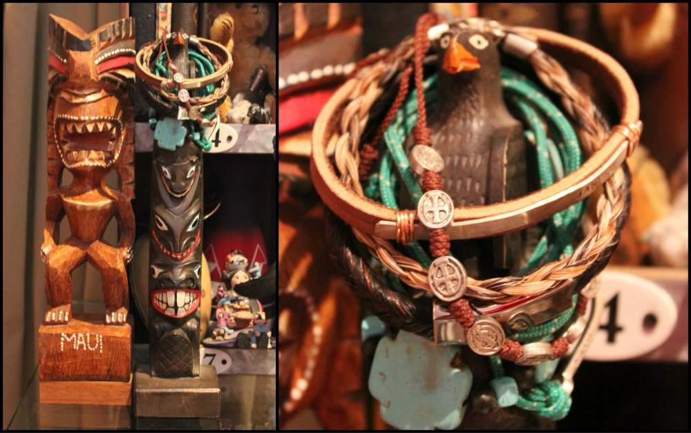 Totems and Bracelets on my Desk Collage