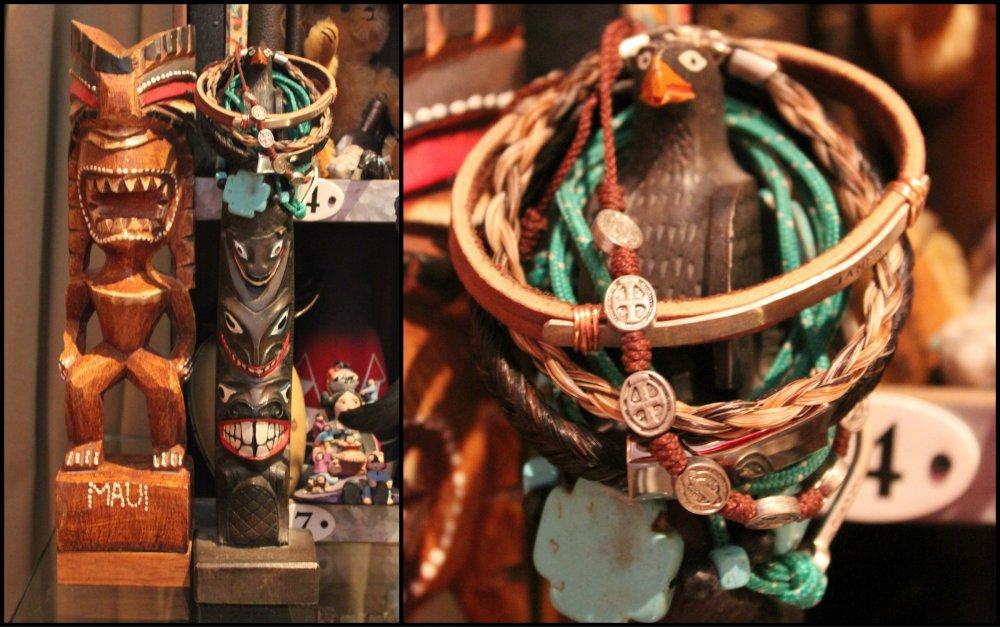 Totems and Bracelets on my Desk Collage
