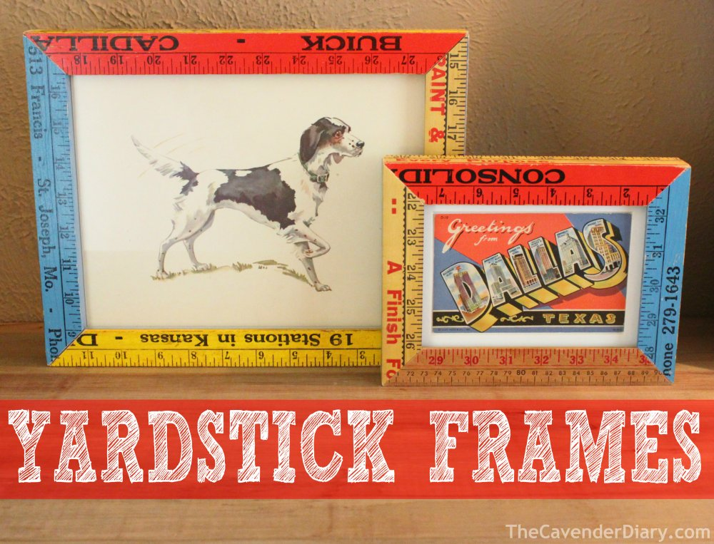 Vintage Yardstick Picture Frames from the Cavender Diary Boys