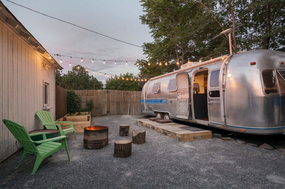 A Friend's Back Yard where the Airstream Now Lives