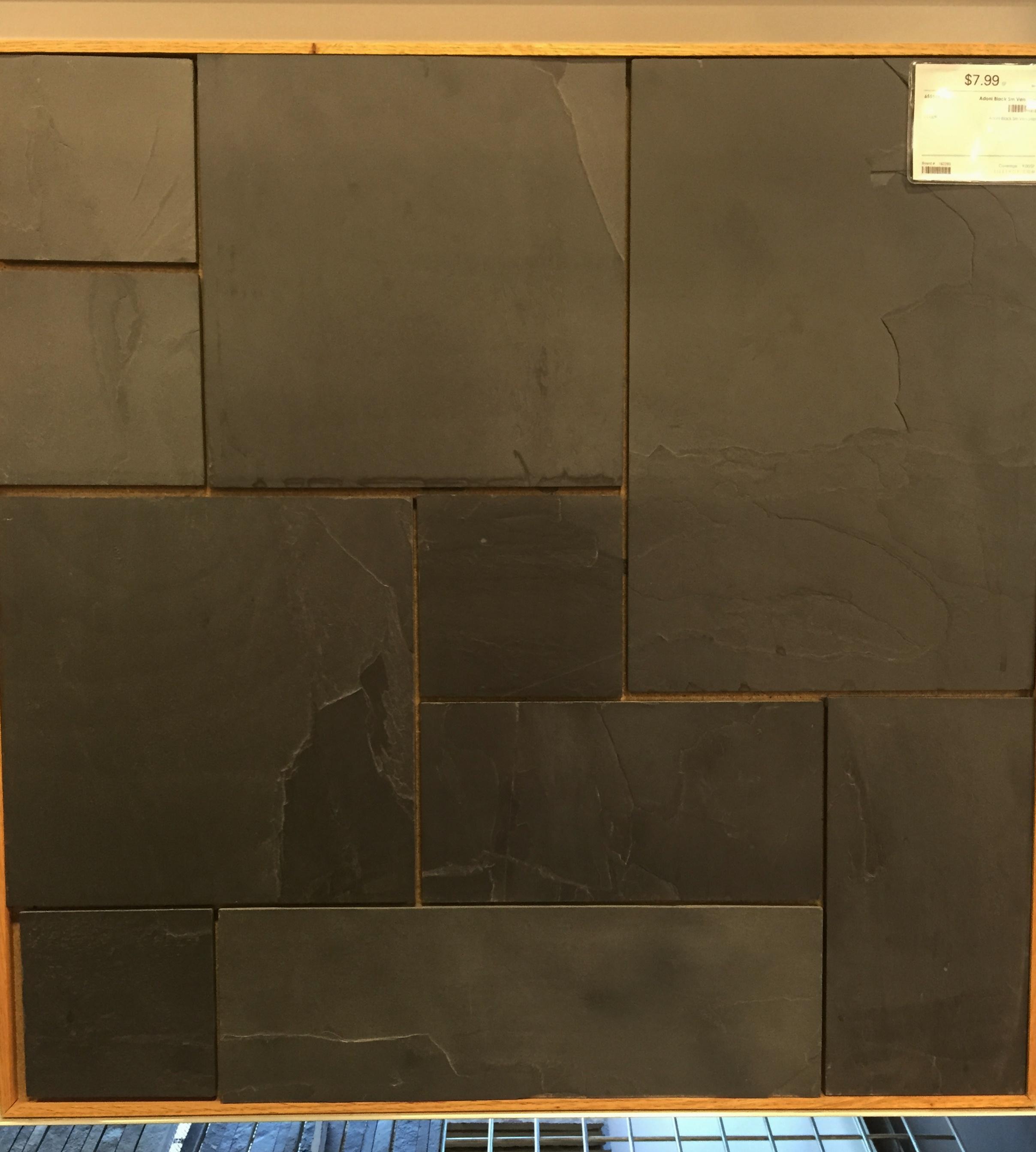 black effect com slate vinyl pin floor tiles