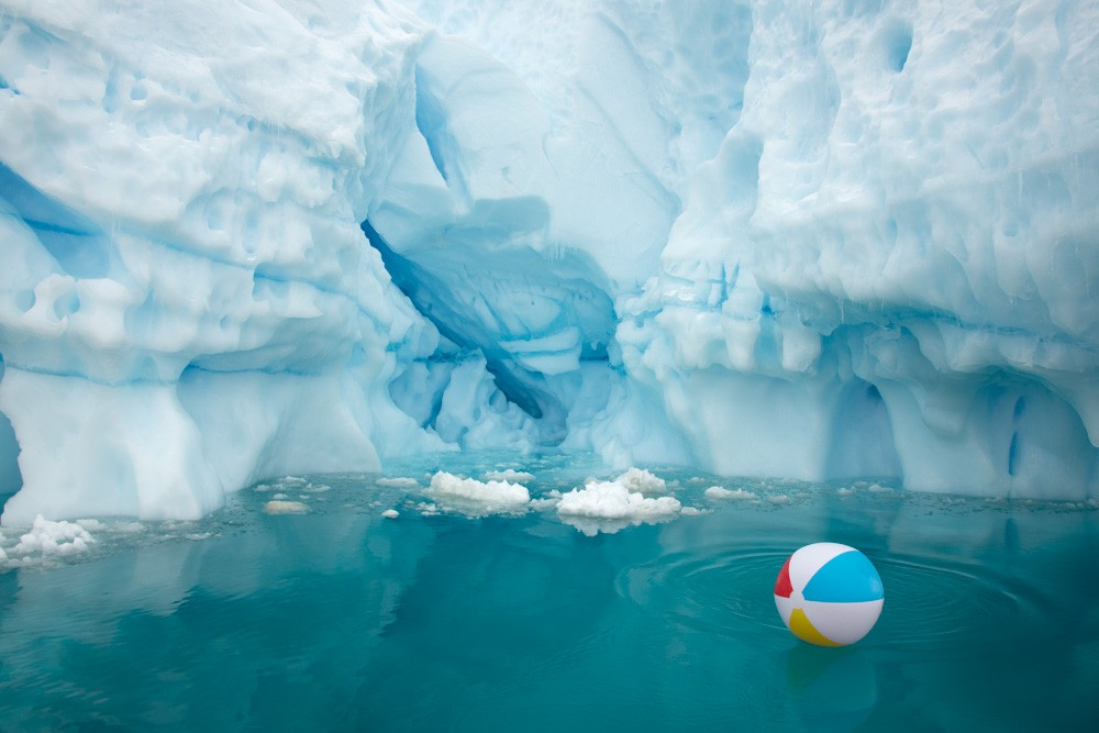 Beach Ball Iceberg Horizontal by Gray Malin