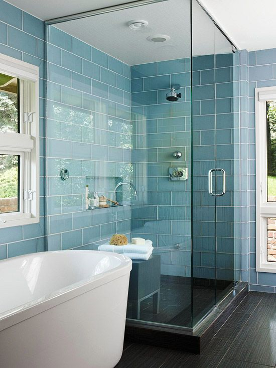 Better Homes and Gardens Turquoise Tile Bathroom