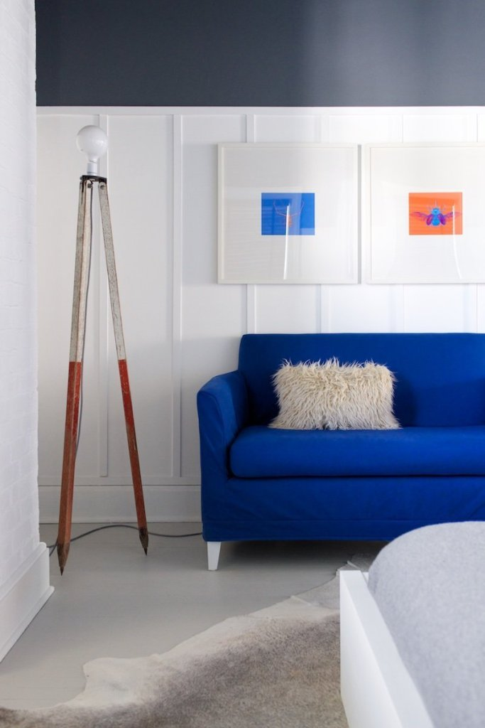 Blue Sofa in the Master Bedroom