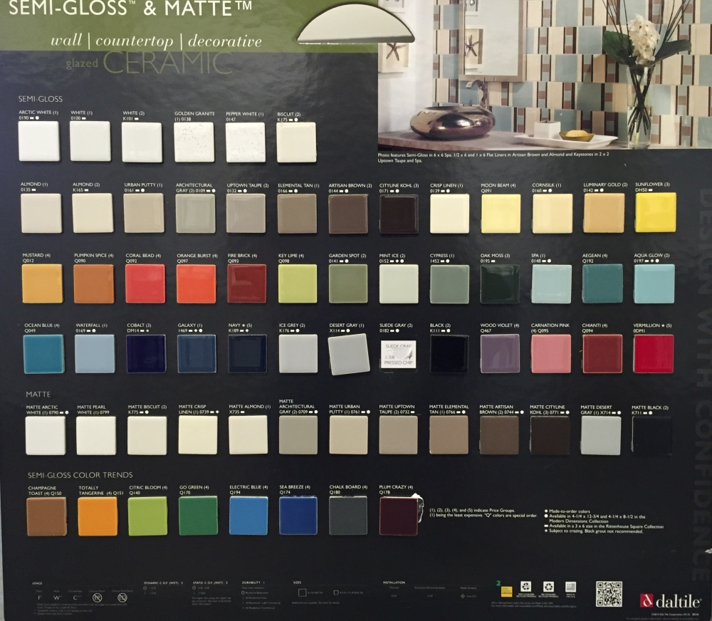 Color Options for Daltile Ceramic Tiles