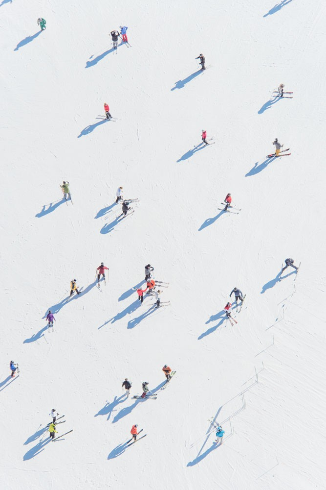 Deer Valley Skiers by Gray Malin