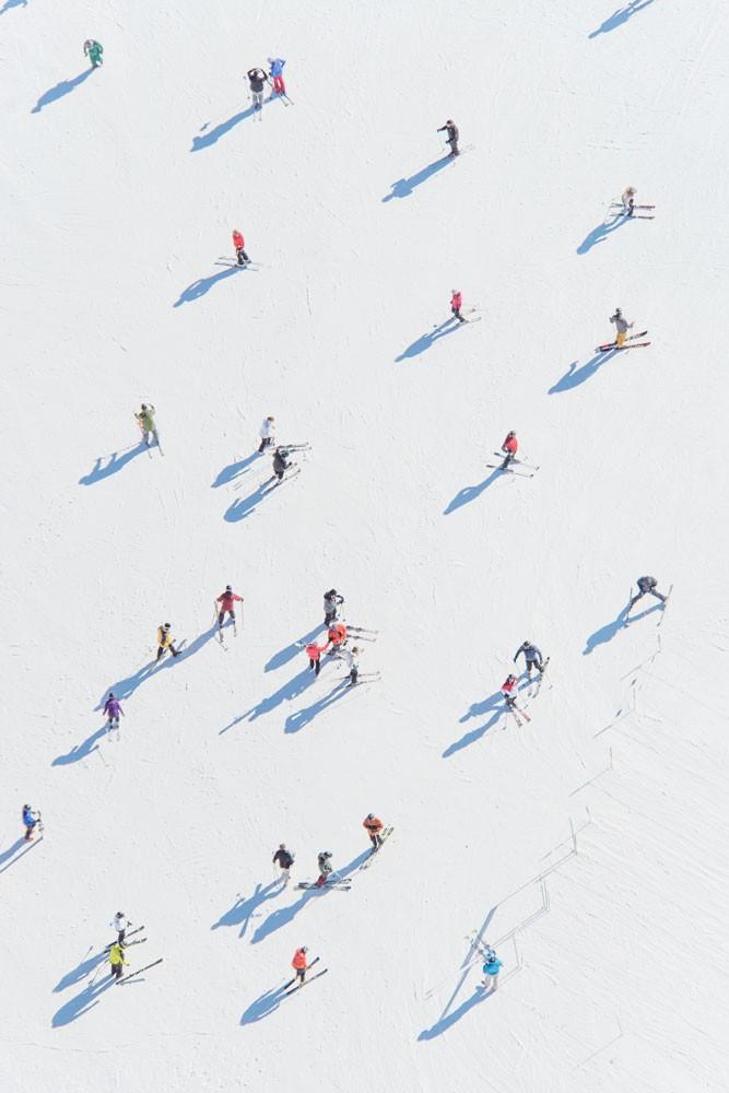Deer Valley Skiers by Gray Malin