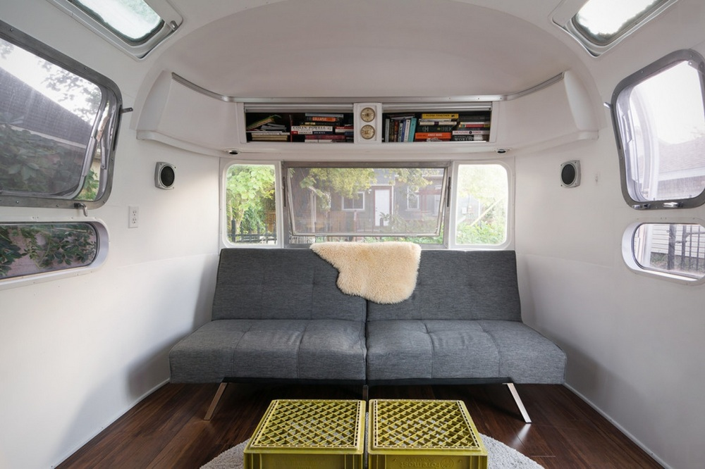 Former Sofa in Refurbished Airstream