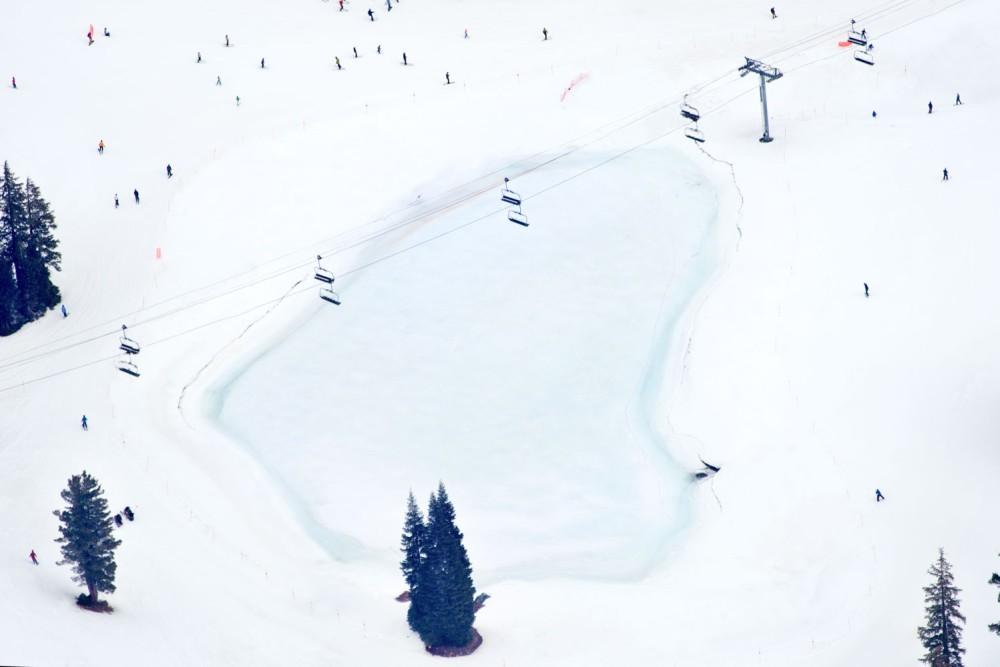 Frozen Pond Lake Tahoe by Gray Malin