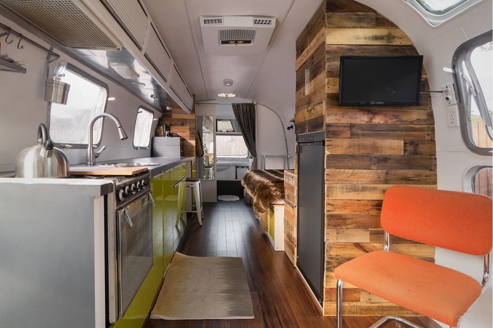 Interior of Refurbished Airstream