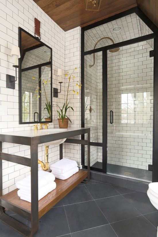 Master Bathroom Slate Floor Inspiration