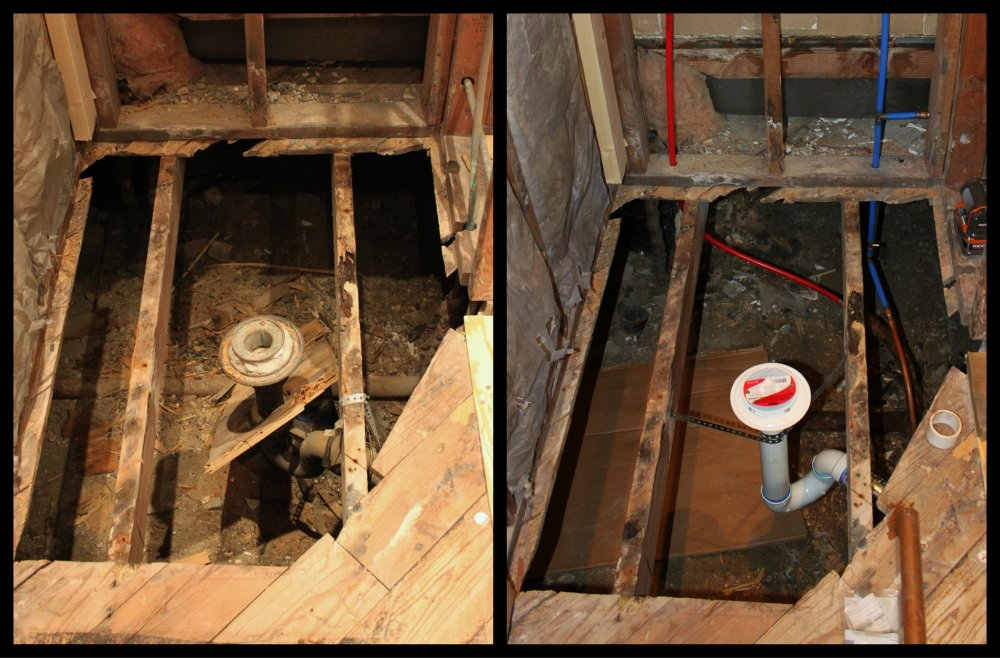 Old Shower Drain vs the New Shower Drain Collage