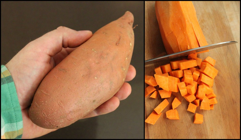 Perfect Size Sweet Potato Collage