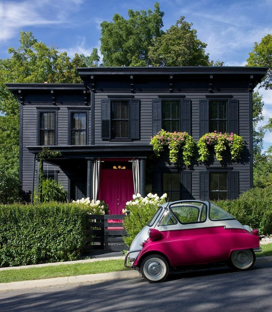 Roger and Chris's 160 Year Old Victorian with Pink Door