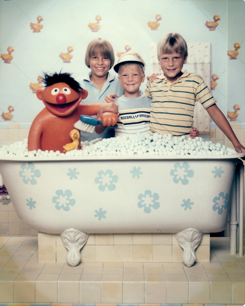 Jimmy, Josh and Ben in the Tub with Ernie