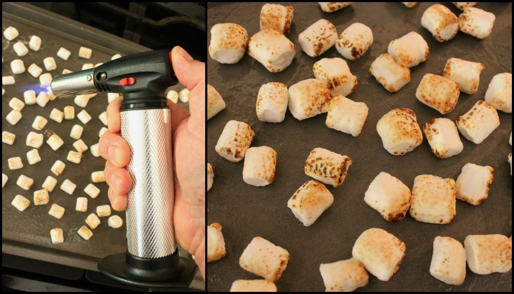 Use a Kitchen Torch to Char the Mini Marshmallows Collage