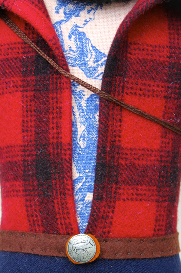 Chest Detail on Mimi Kirchner Lumberjack
