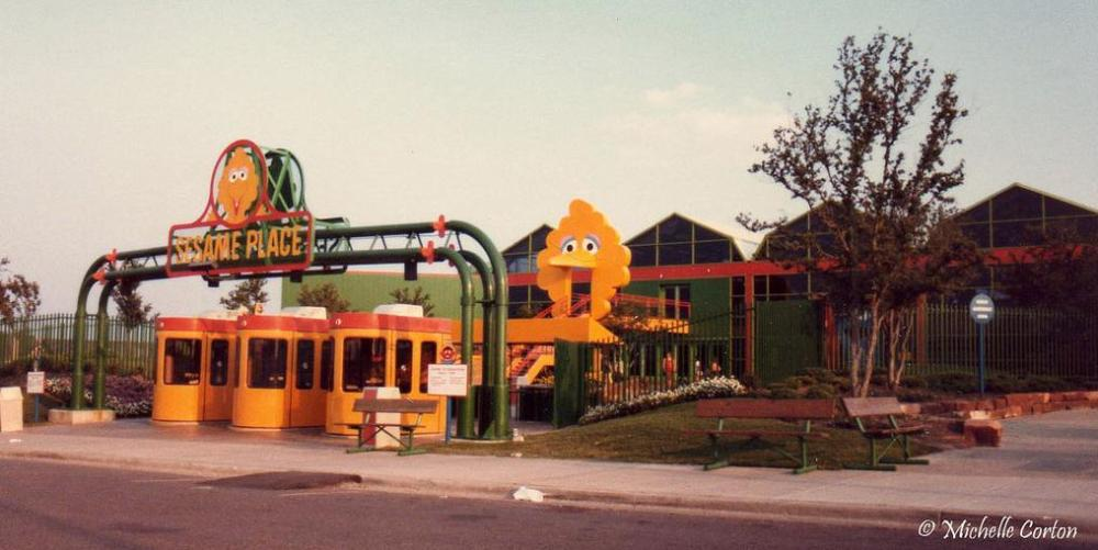 Big Bird Bridge at Sesame Place in Irving Texas