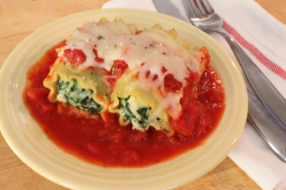 Plated Lasagna Rolls from the Cavender Diary Boys