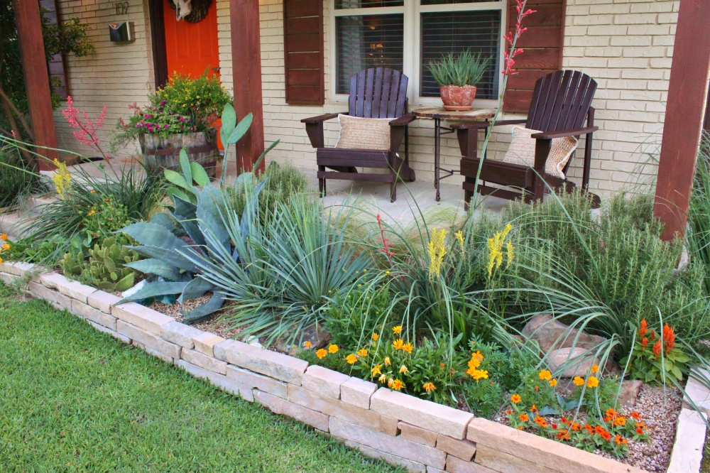 The Cavender House Flower Beds May of 2015