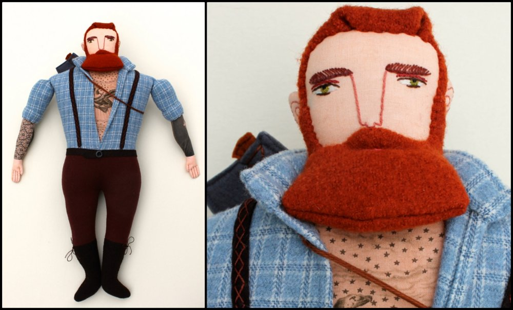 Mimi Kirchner Red Beard Lumberjack Collage