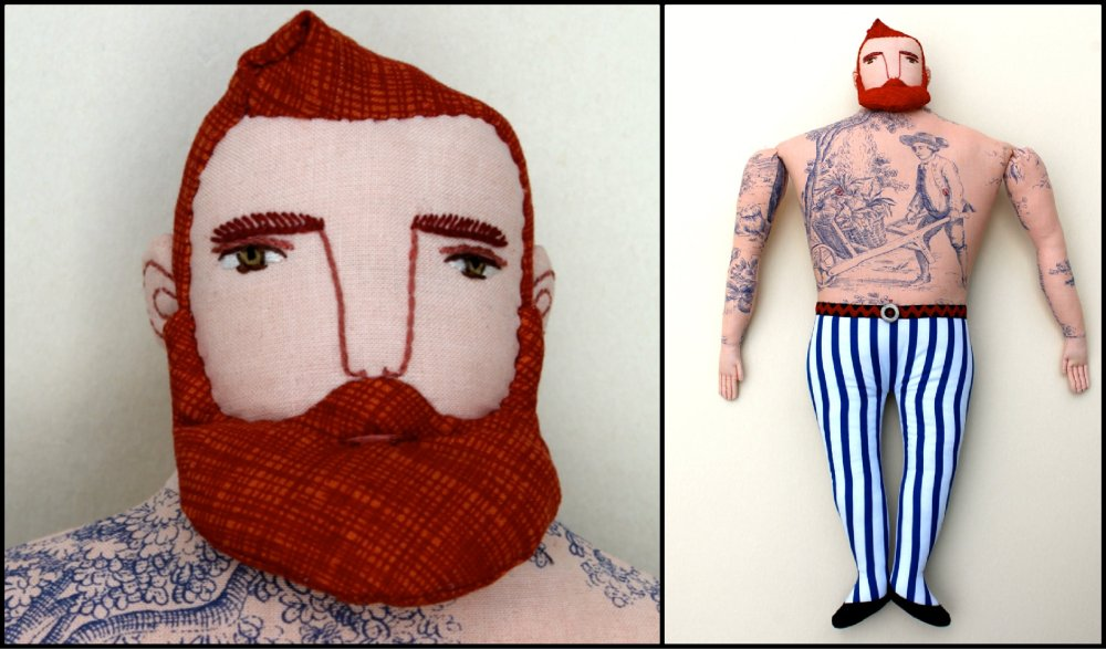 Mimi Kirchner Tatooed Red Beard Collage