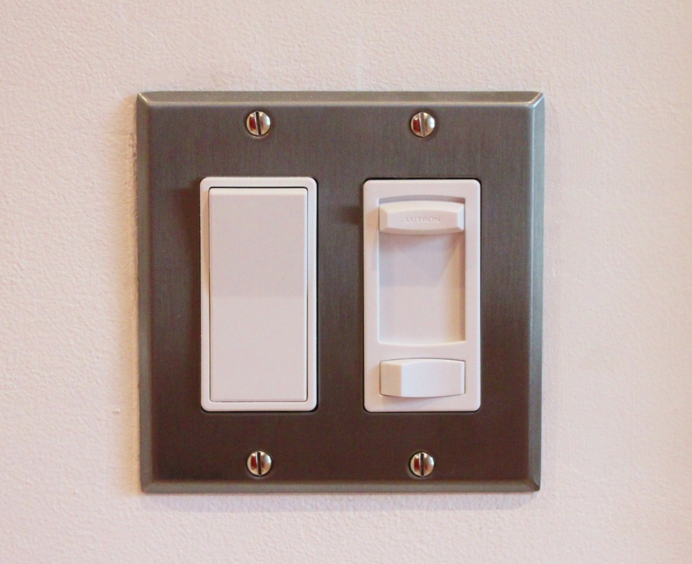 New Switches in the Master Bathroom