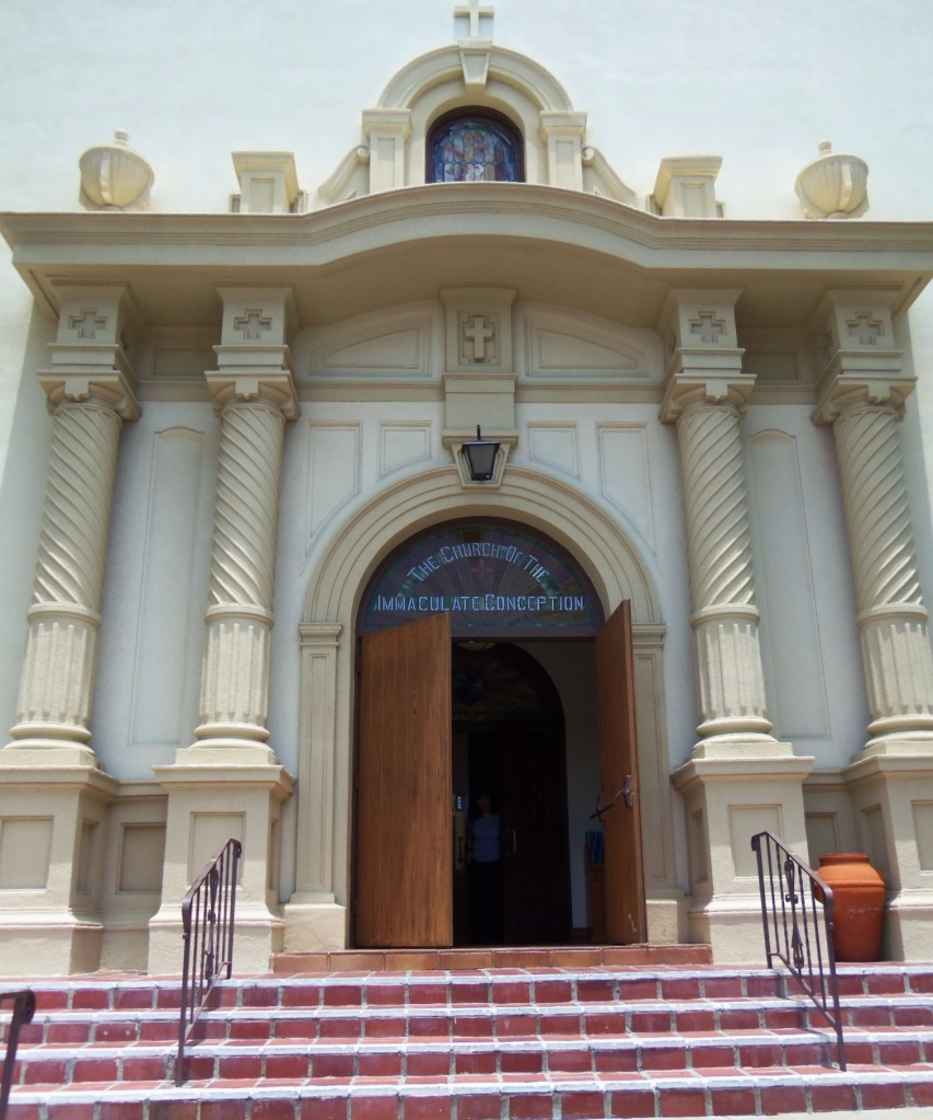 Front of the Church of the Immaculate Conception in Old Town San Diego