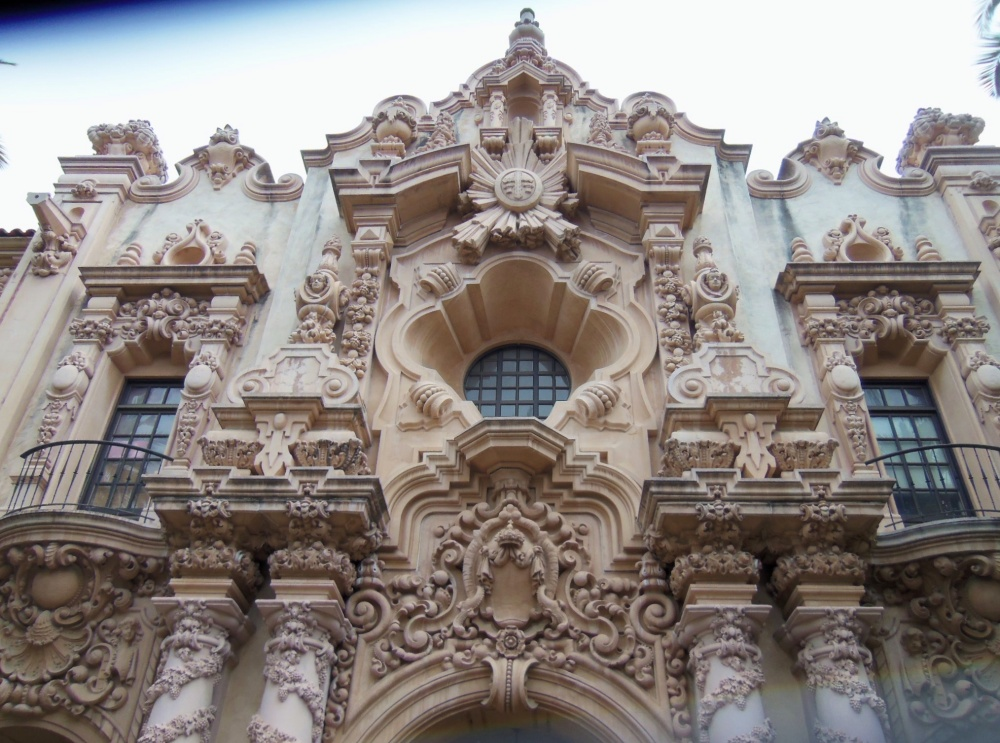 The Facade of the Casa del Prado in Balboa Park in San Diego