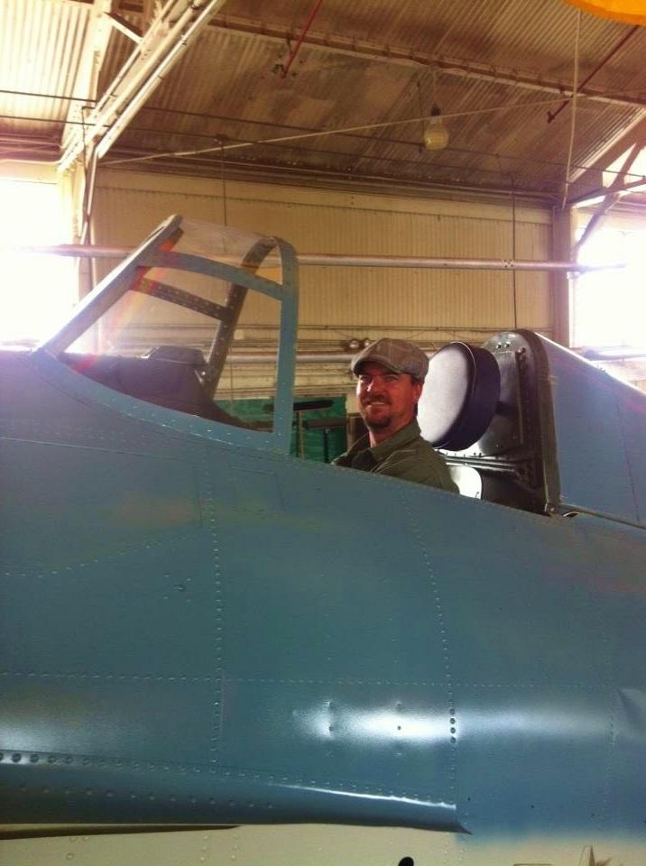 Ben in the Cockpit of the F4F Wildcat