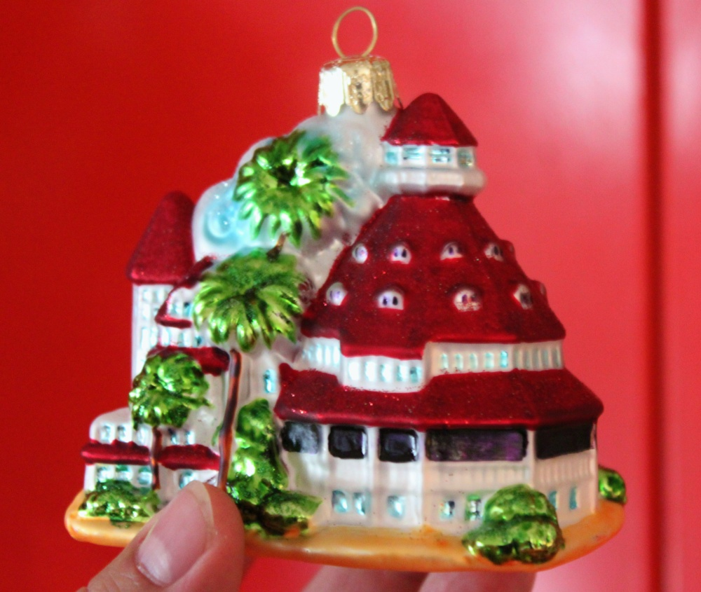 Blown Glass Ornament of the Hotel Del Coronado