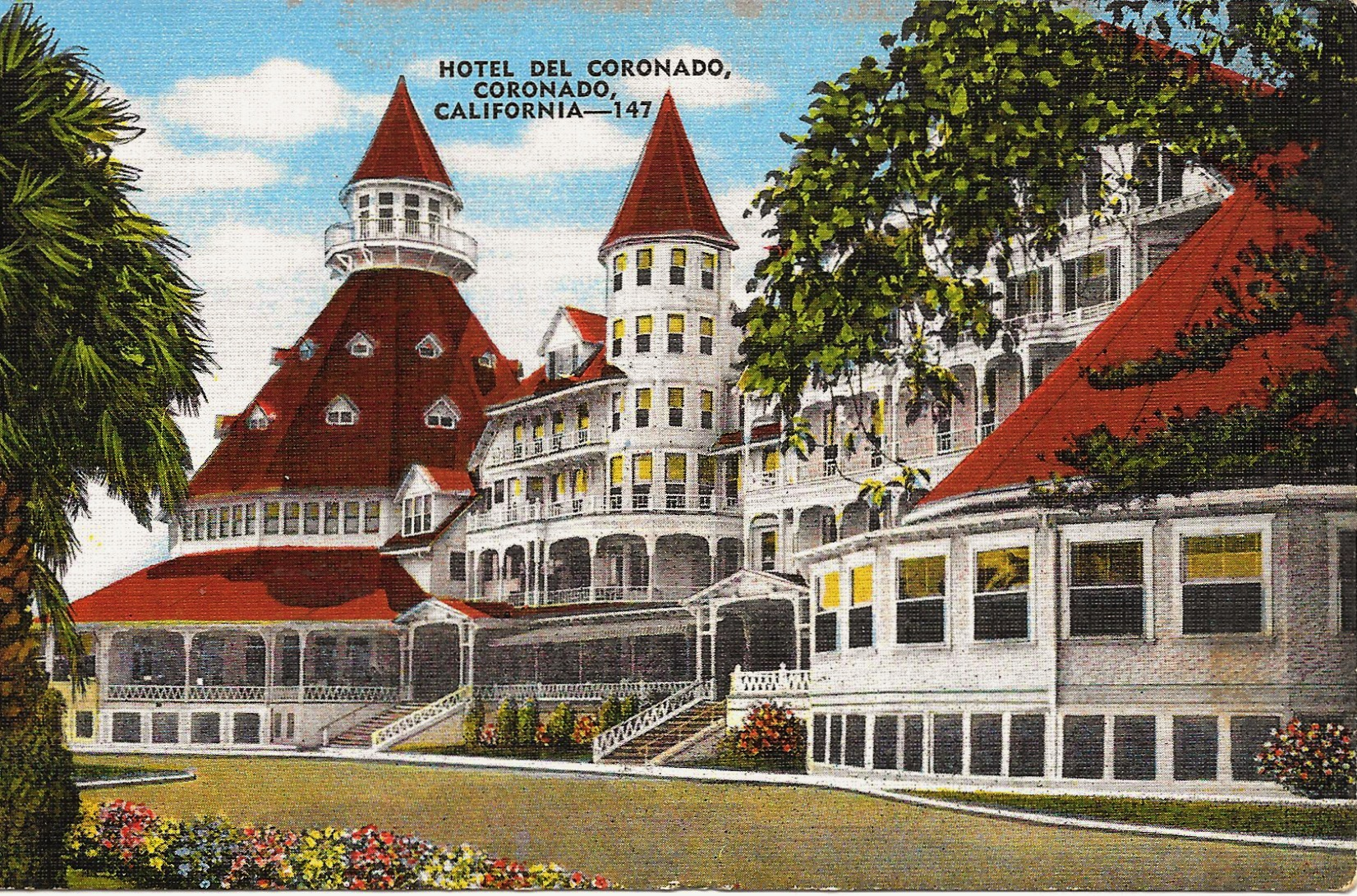 coronado hotel del postcard diego san hotels postcards thecavenderdiary cavender diary 1930 changed since she travel airport