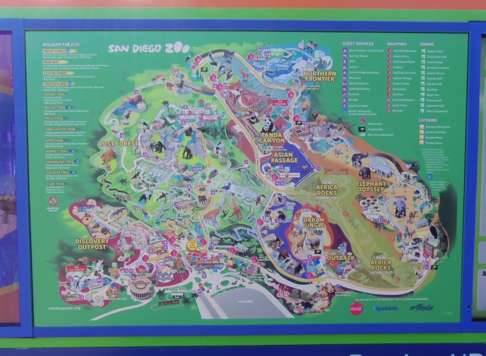 Map of the San Diego Zoo