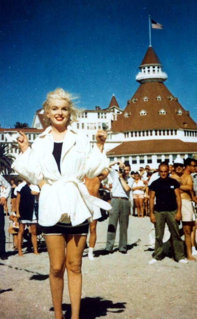 Marilyn at the Hotel Del Coronado