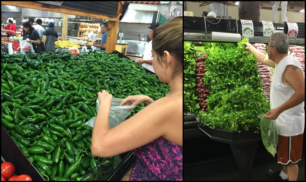 Mexican Grocery Store Produce Collage