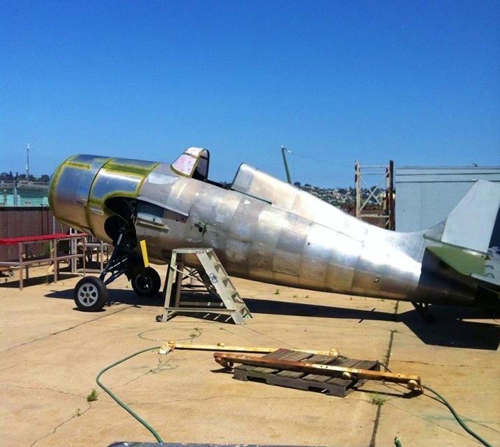 The F4F Wildcat Ben was working on
