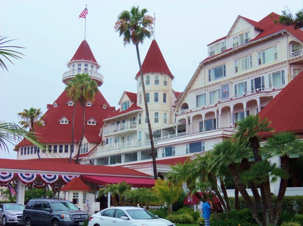 The Front of the Hotel Del Coronado