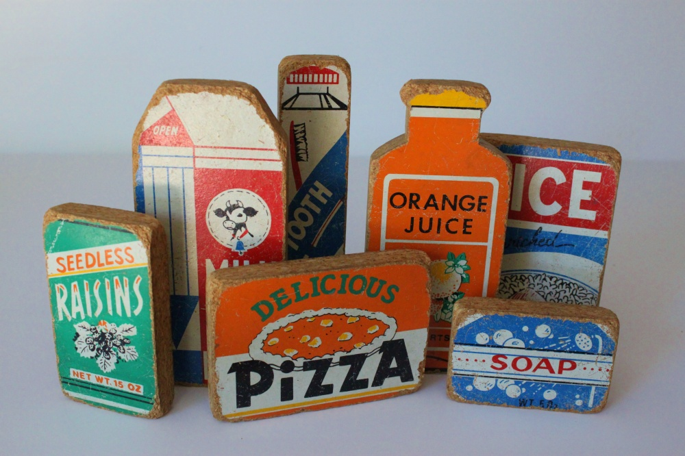 Vintage Wood Play Groceries