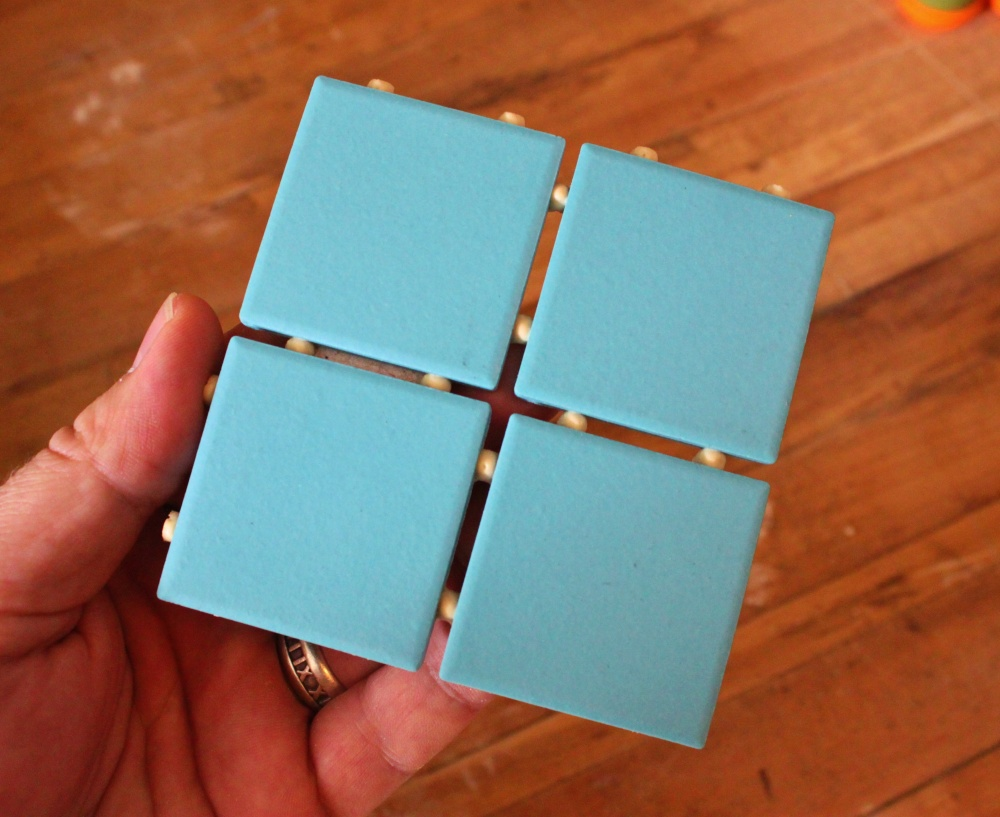 Unglazed 2 Inch Square Turquoise Tiles