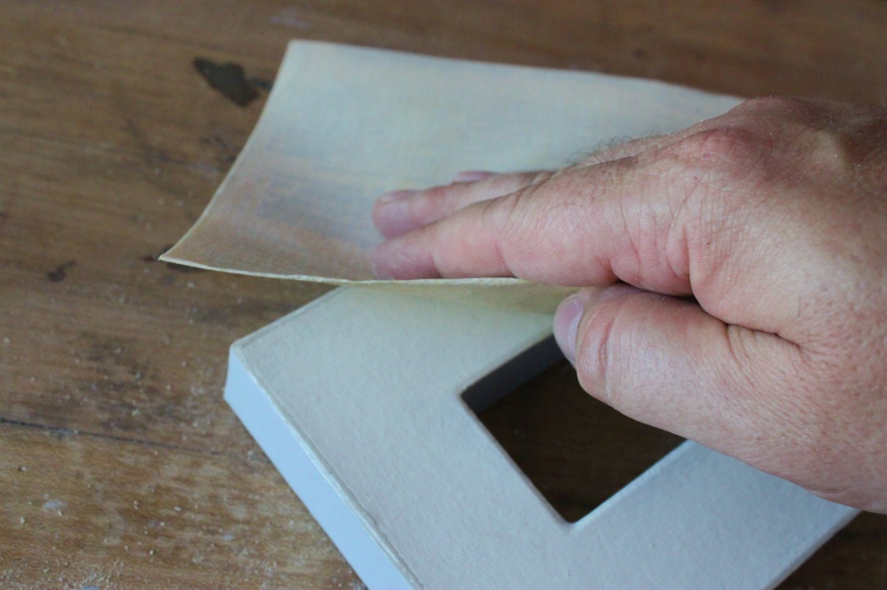 Use a Softer Sandpaper for the Cardboard