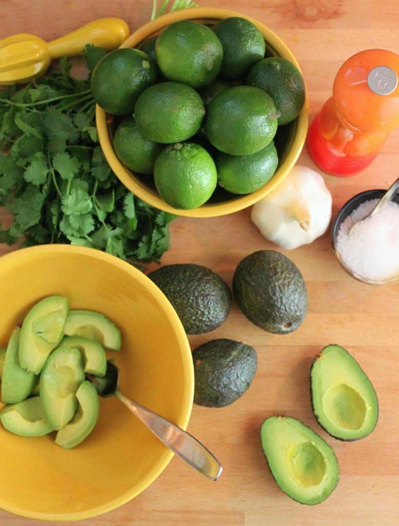 Homemade Guacamole from Ripe Avocados