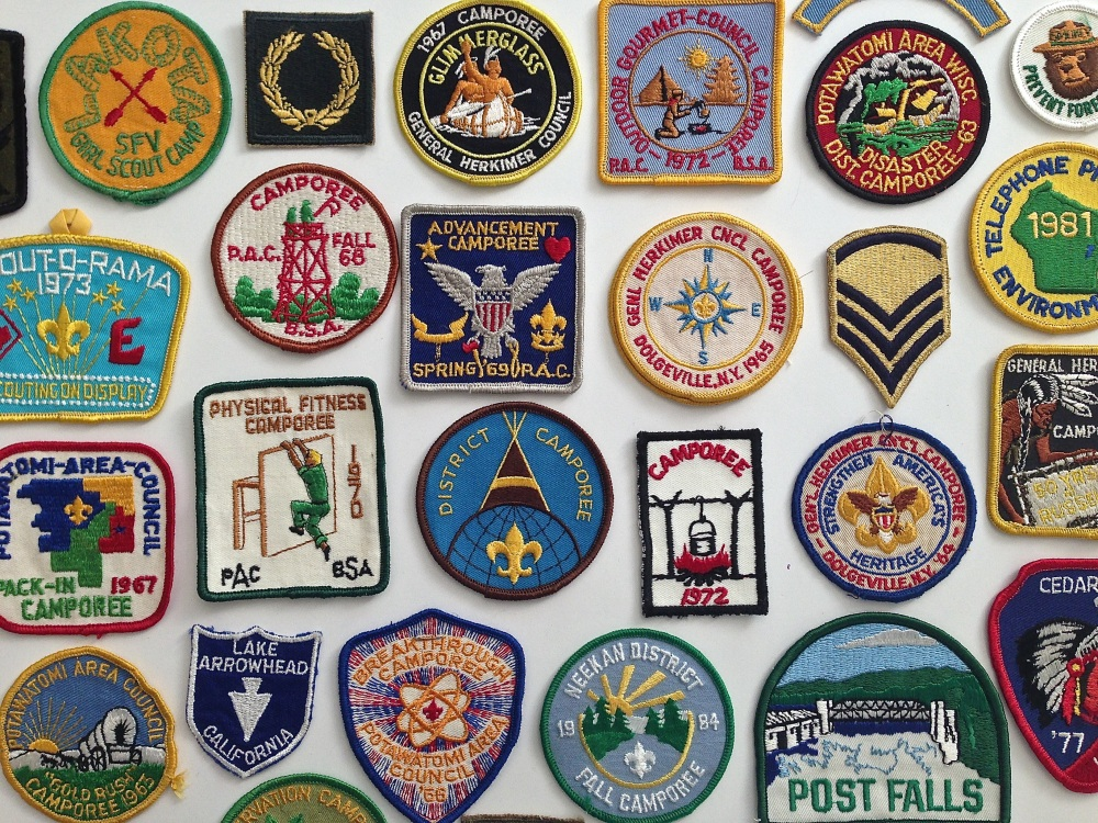 Vintage Boyscout Patches from the 1970's
