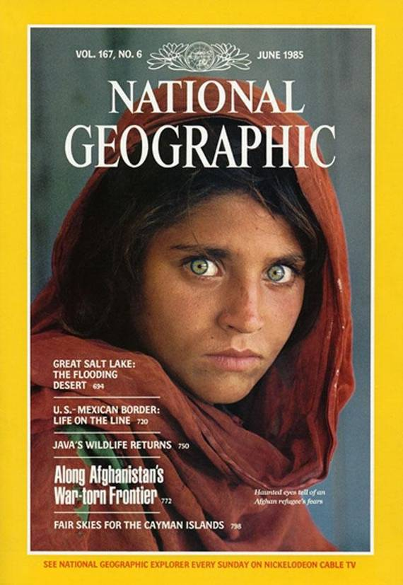 National Geographic June 1985 Afghan Girl Cover