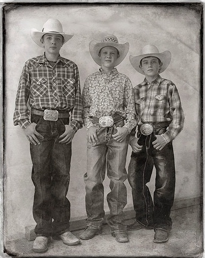 Richard Phibbs Three Young Cowboys